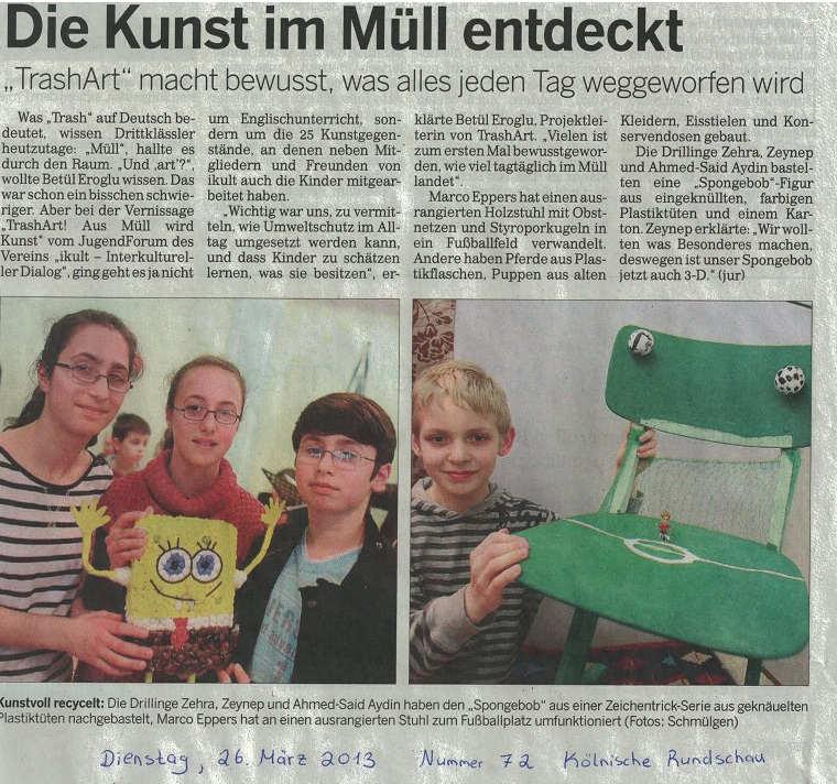 Kölnische Rundschau - 26. März 2013
